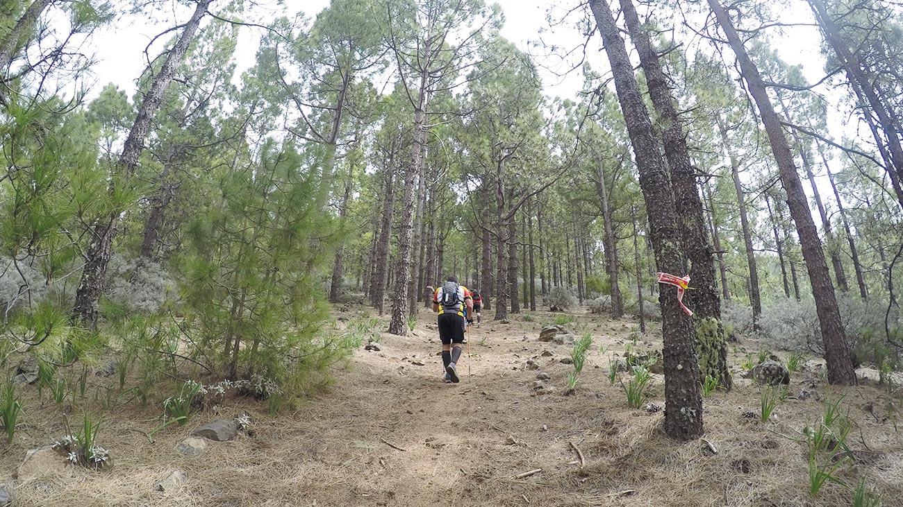 Der steilste Anstieg des Laufs direkt nach Garañón.